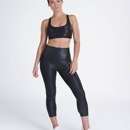 Faux Leather Active Cropped Leggings | Spanx