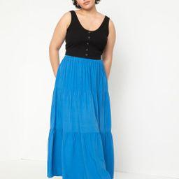 Tiered Maxi Skirt | Women's Plus Size Skirts | ELOQUII | Eloquii