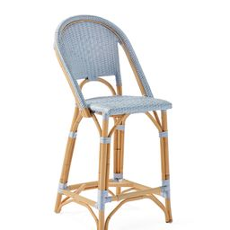 Sunwashed Riviera Counter Stool   Serena and Lily