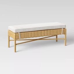 Eliot Closed Weave Patio Dining Bench - Threshold™ | Target