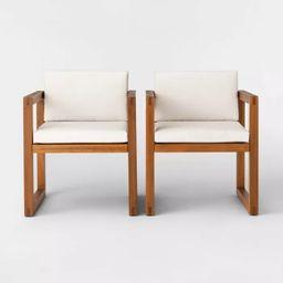 Kaufmann 2pk Wood Patio Arm Chair - Natural - Project 62™ | Target