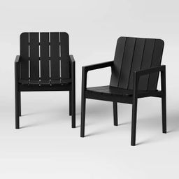 2pk Blackened Wood Patio Dining Chair - Smith & Hawken™ | Target
