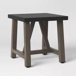 Concrete & Faux Wood Patio Accent Table - Smith & Hawken™ | Target