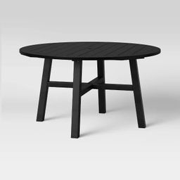 Blackened Wood 4 Person Round Patio Dining Table - Smith & Hawken™ | Target