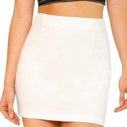 SheIn Women's Basic Stretchy Bodycon Pencil Tube Short Mini Skirt | Amazon (US)
