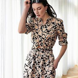 Satin Floral Portofino Shirt | Express