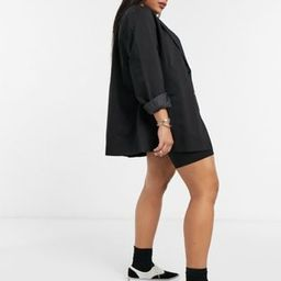 COLLUSION Plus oversized dad blazer in black | ASOS (Global)