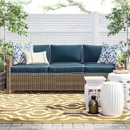 Lawson 80.5'' Wide Outdoor Wicker with Cushions   Wayfair North America