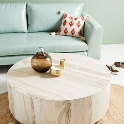 Swirled Drum Coffee Table | Anthropologie (US)