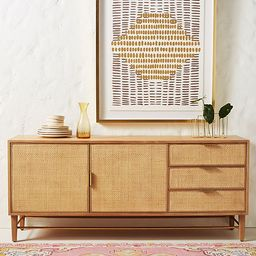Wallace Cane and Oak Sideboard | Anthropologie (US)