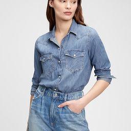 Denim Western Shirt   Gap (US)