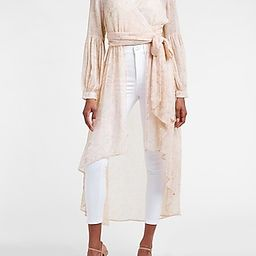Floral Tie Front High-Lo Kimono Cover-Up | Express