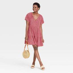 Women's Short Sleeve Shift Dress - Knox Rose™   Target