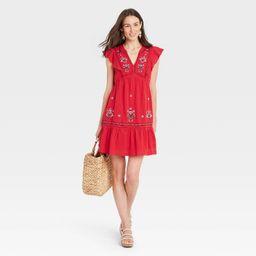Women's Flutter Short Sleeve Dress - Knox Rose™ | Target
