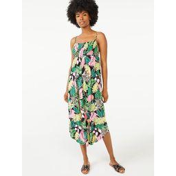 Scoop Women's Printed Smocked Cami Dress | Walmart (US)