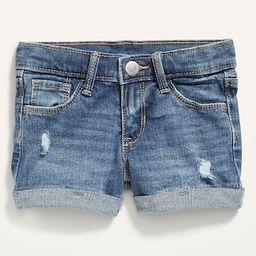 Medium-Wash Distressed Jean Shorts for Toddler Girls | Old Navy (US)