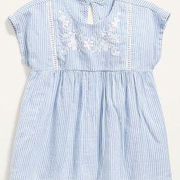 Seersucker-Stripe Embroidered Top for Toddler Girls | Old Navy (US)
