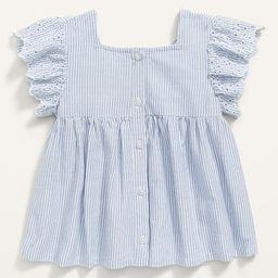 Scallop-Trim Pinstripe Babydoll Top for Toddler Girls | Old Navy (US)
