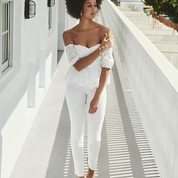 Eyelet Lace Off The Shoulder Top   Express