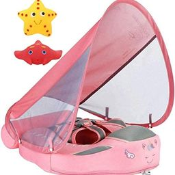 Newest Mambobaby Non Inflatable Swim Trainer Size Improved Add Tail Never Flip Over UPF 50+ Sun C...   Amazon (US)