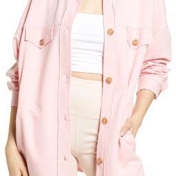 Oversize Cotton Blend Shirt Jacket   Nordstrom