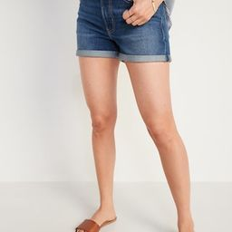 High-Waisted O.G. Jean Shorts for Women -- 3-inch inseam | Old Navy (US)
