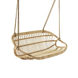 Hanging Rattan Bench | Serena and Lily