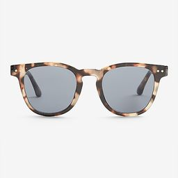 Tortoiseshell Round Frame Sunglasses   Express