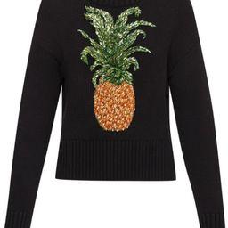 Oscar De La Renta pineapple-appliqué Jumper - Farfetch   Farfetch (US)