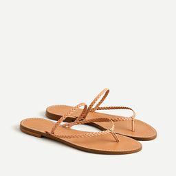 Capri braided-strap flip-flops | J.Crew US