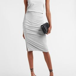 Silky Sueded Jersey High Waisted Ruched Pencil Skirt | Express