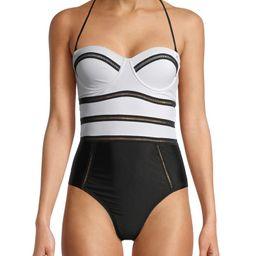 XOXO Women's Novelty Trim Strapless One Piece Swimsuit | Walmart (US)