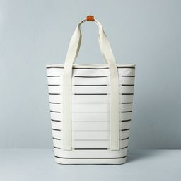 19qt Insulated Multistripe Backpack Cooler Gray/Sour Cream - Hearth & Hand™ with Magnolia   Target