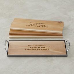 Williams Sonoma Cedar Planks, Set of 4, with Plank Saver   Williams-Sonoma