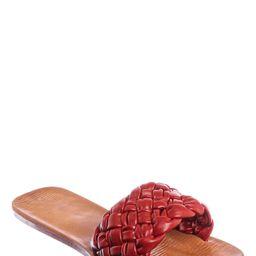 Flat Puffy Woven Sandal - Women Summer Open Toe Slide In Weaving Mule | Walmart (US)