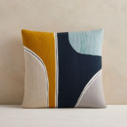 Crewel Outlined Shapes Pillow Cover   West Elm (US)