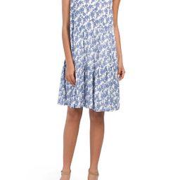 Sleeveless V-neck Printed Knee Dress   TJ Maxx