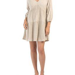 Juniors Textured Knit Baby Doll Dress   TJ Maxx