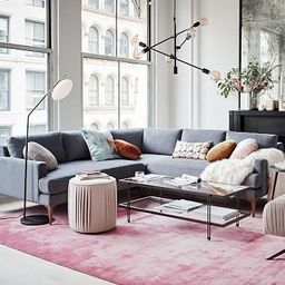 Andes 3-Piece L-Shaped Sectional   West Elm (US)