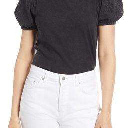 Eyelet Sleeve T-Shirt | Nordstrom
