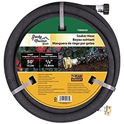 Rocky Mountain Goods Soaker Hose - Heavy duty rubber - Saves 70% water - End cap included for add...   Amazon (US)
