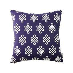 Nonogram Pillow in Navy | Caitlin Wilson Design
