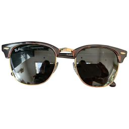 Ray-ban Clubmaster Brown Metal Sunglasses for Women | Vestiaire Collective (Global)