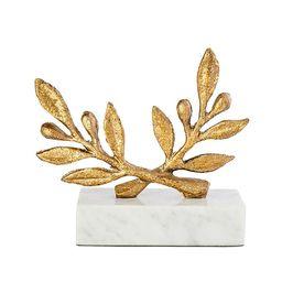 Gold Leaf Olive Branch Figurine | Caitlin Wilson Design