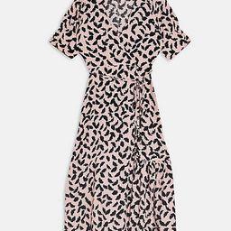 Topshop button down wrap midi dress in pink   ASOS (Global)