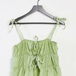 Another Reason babydoll cami crop top with tie front   ASOS (Global)