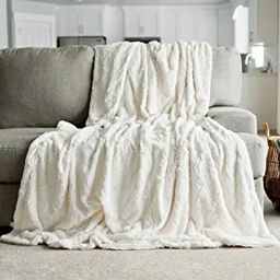 GRACED SOFT LUXURIES Softest Warm Elegant Cozy Faux Fur Home Throw Blanket (Solid Ivory, Extra La...   Amazon (US)