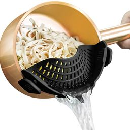 AUOON Strainer with 2 Clip for Veggies Pasta Ground Meat and More for Pots Pans,Heat Resistant Si...   Amazon (US)