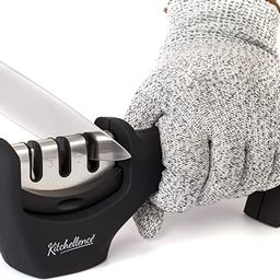 4-in-1 Kitchen Knife Accessories: 3-Stage Knife Sharpener Helps Repair, Restore, Polish Blades an...   Amazon (US)