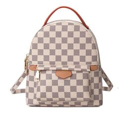 'Emma' Canvas Checked Mini Backpack (3 Colors) | Goodnight Macaroon